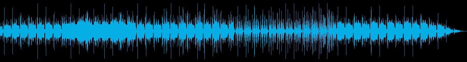 ゆったりとしたレゲエ調の曲の再生済みの波形