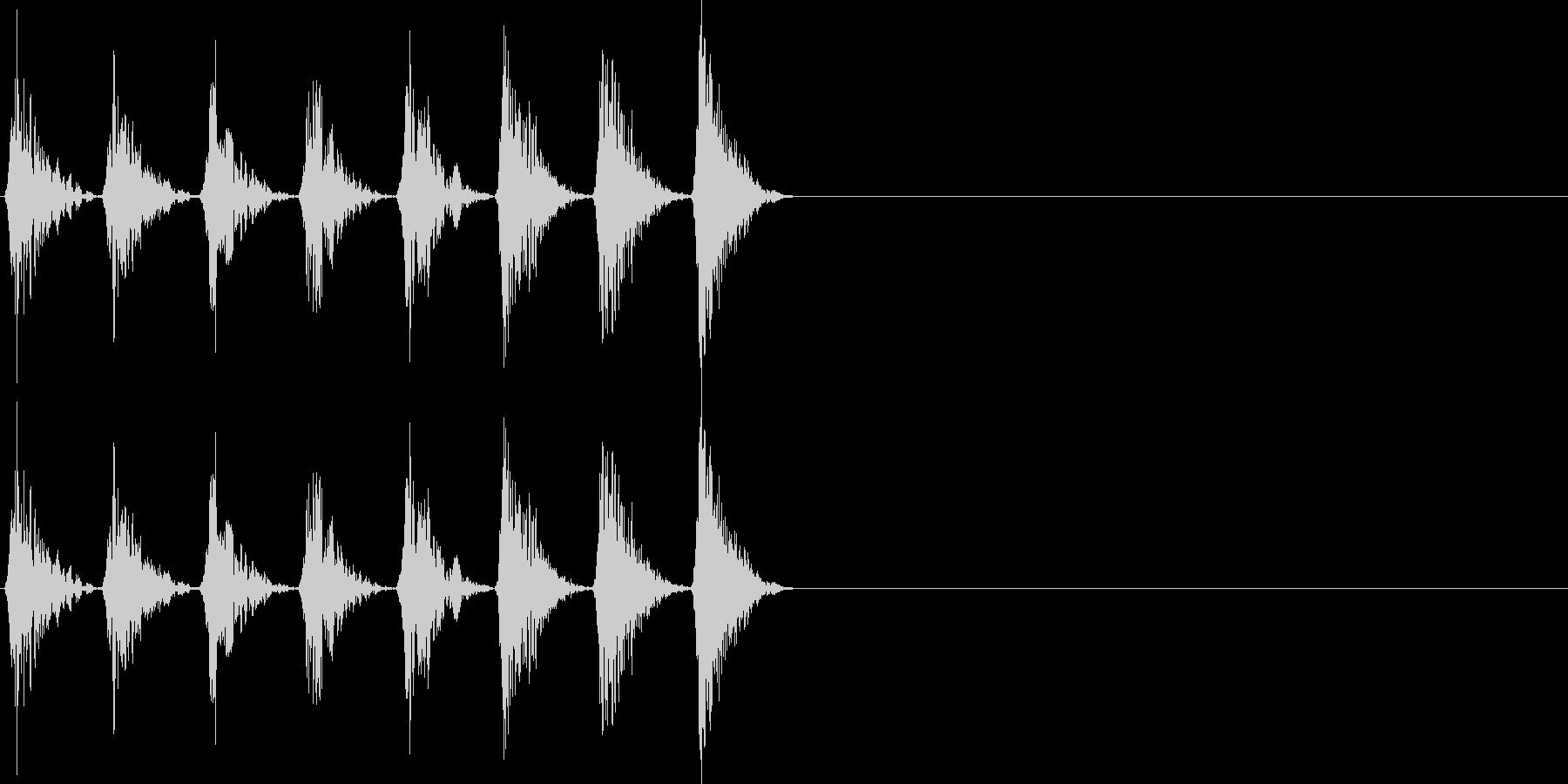 ノイズ ピッチアップ 16ビートの未再生の波形