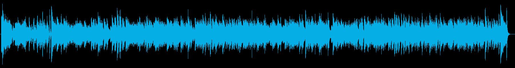 ピアノで弾くミディアムテンポの4ビートの再生済みの波形