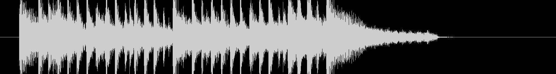 爽快なアコギのジングルの未再生の波形