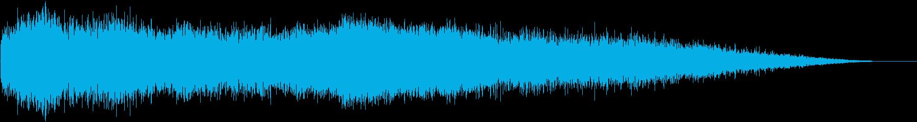 どーんっ!!・・(銅鑼の音)の再生済みの波形