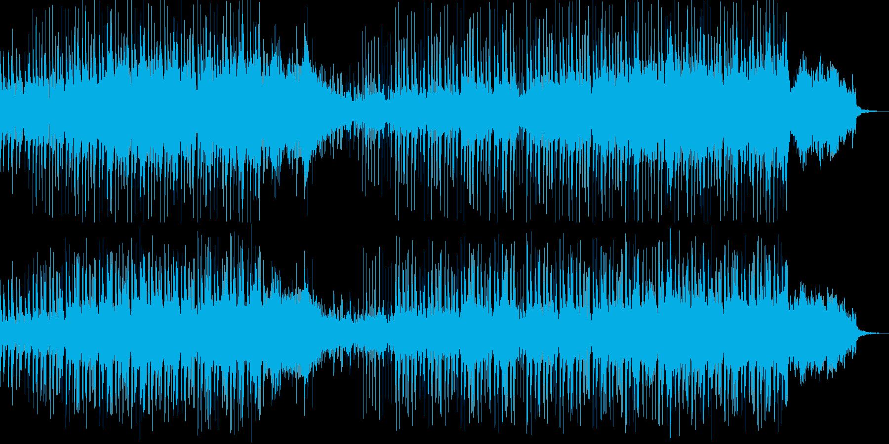 おしゃれでスピード感のあるメロディーの再生済みの波形