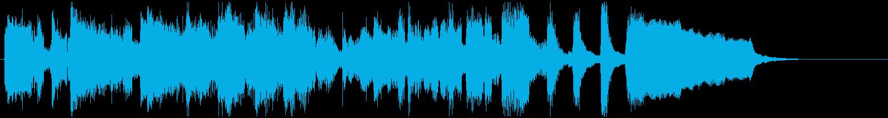 わくわくするショーの始まりっぽい15秒曲の再生済みの波形