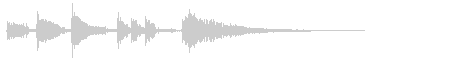 ★アコースティックギター生音ジングル30の未再生の波形