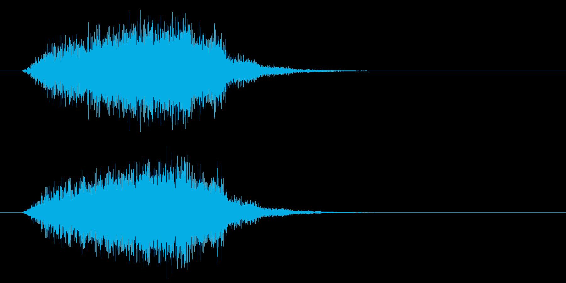 上昇&回復の再生済みの波形