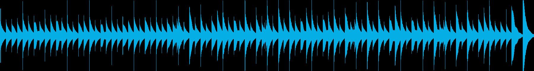 ほのぼのとして温かいオルゴール曲の再生済みの波形