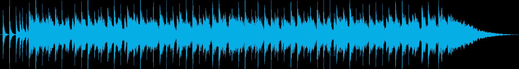 ハッピーなジングルの再生済みの波形