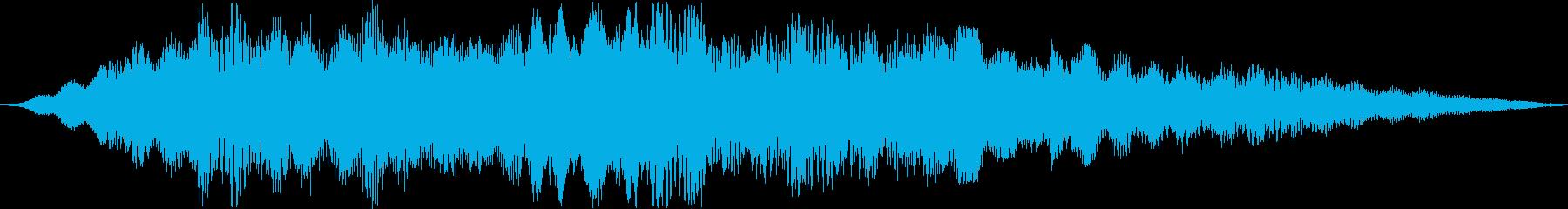 ワープしたときのジングルの再生済みの波形
