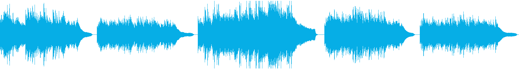 躍動感があり温かいイメージのピアノソロの再生済みの波形