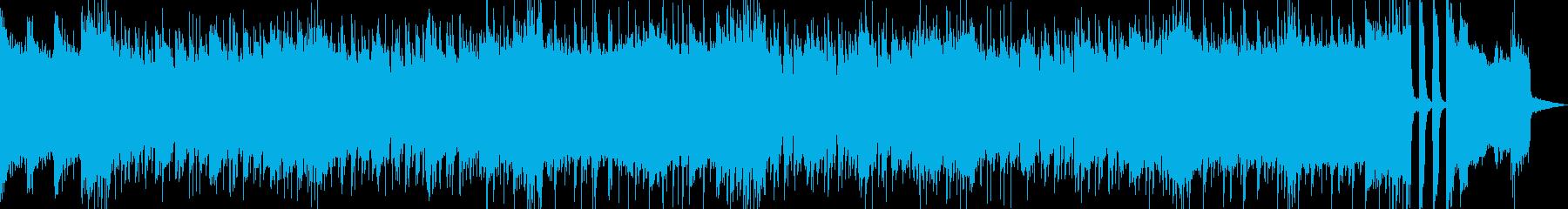 攻撃的な8ビートロックの再生済みの波形