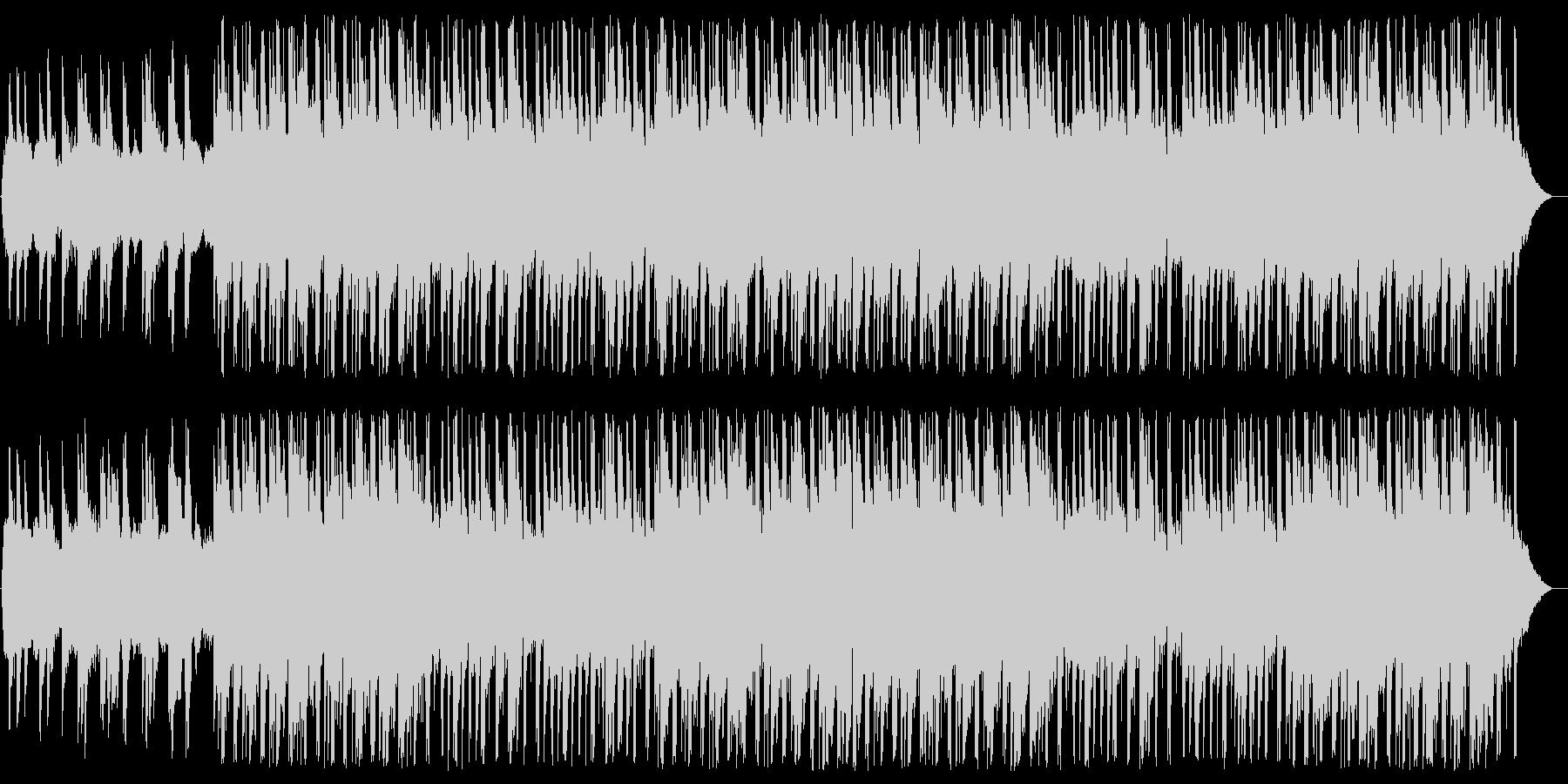 ノスタルジックで感動的な少し切ないBGMの未再生の波形