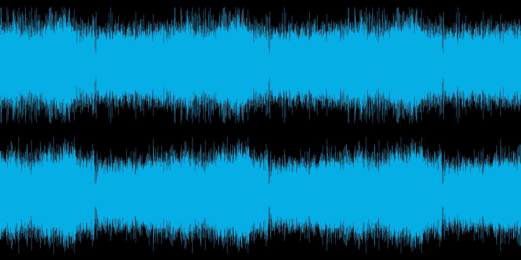 ゲームの戦闘バトル時に流れそうなBGMの再生済みの波形