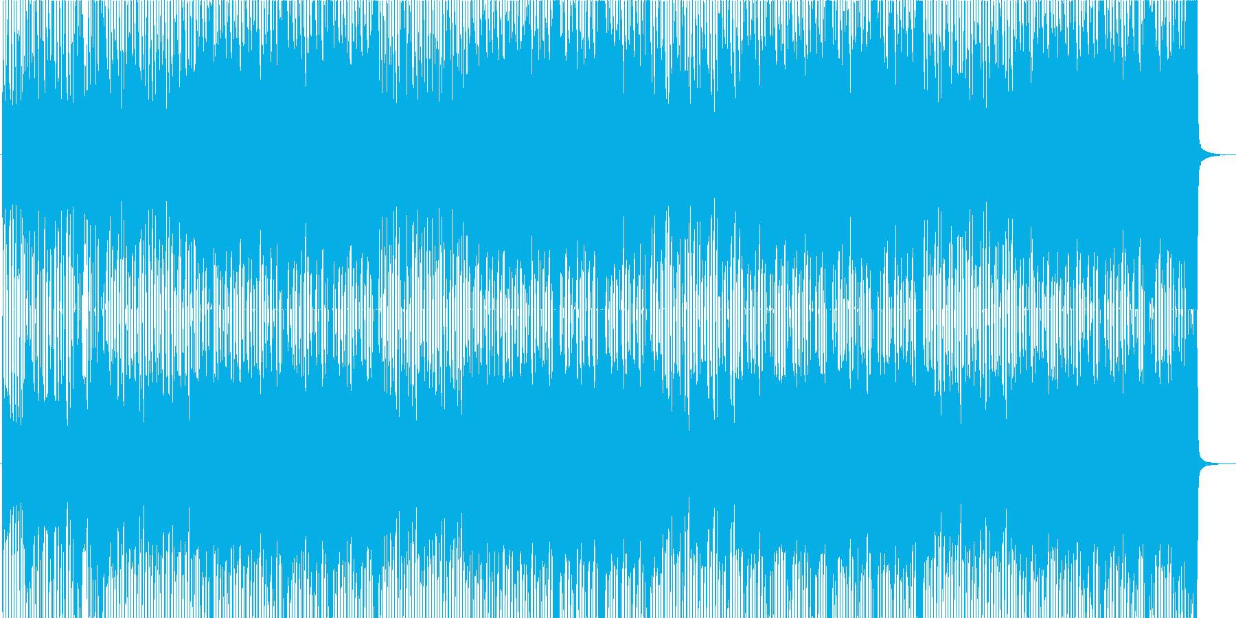 疾走感ある爽やかロック☆メロ無・長尺の再生済みの波形
