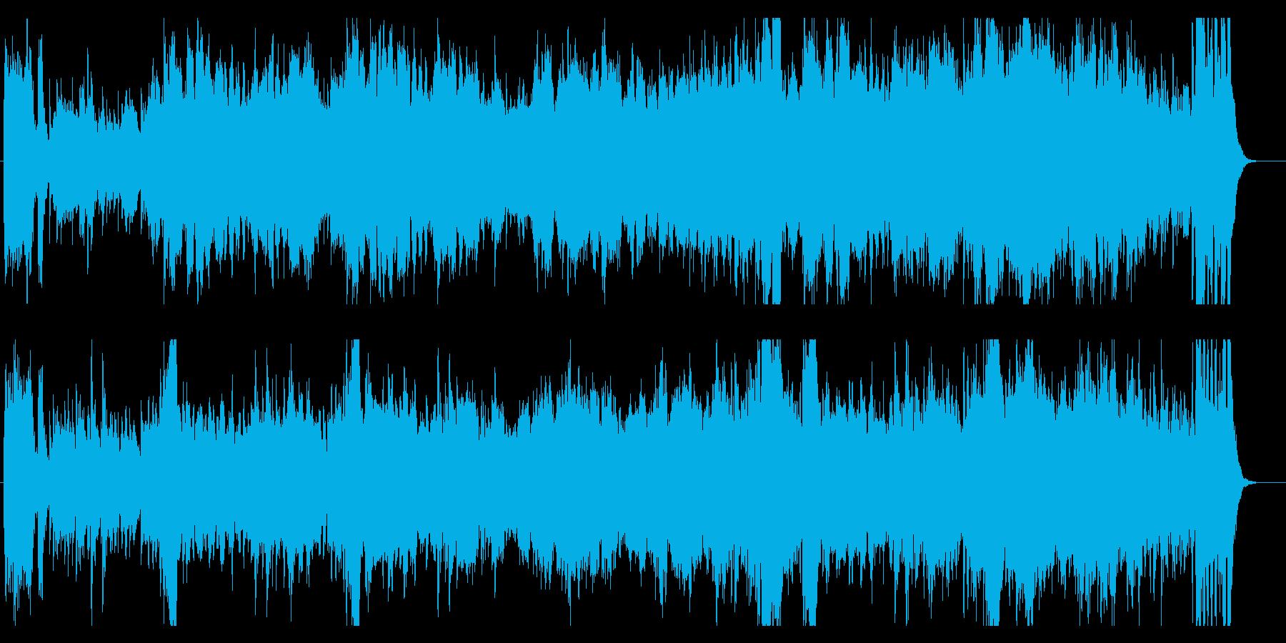 朝ドラ風ドラマチックオーケストラサウンドの再生済みの波形