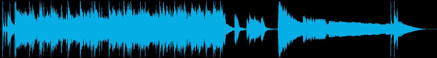 ゴキゲンなジャズのエンディング用ジングルの再生済みの波形