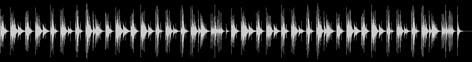 コミカルでネガティブな木琴の劇伴風の未再生の波形