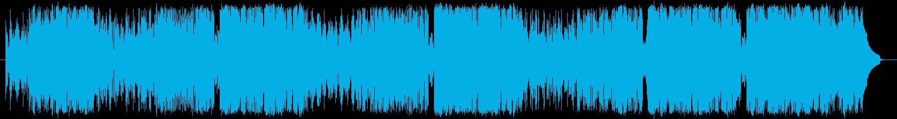 可愛くてポップな曲調の再生済みの波形