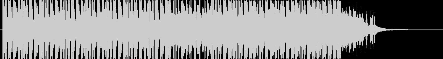 軽快なピアノの四つ打ちBGMの未再生の波形
