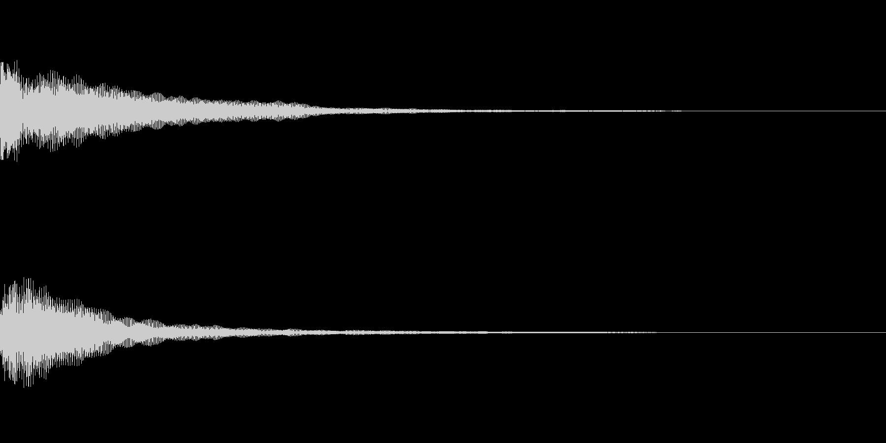 コイン選択設定画面ボタンオープン時の音の未再生の波形