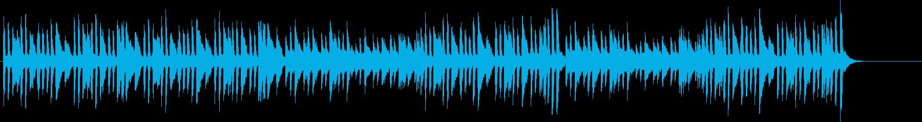 かわいらしい軽快なピアノソロ曲の再生済みの波形