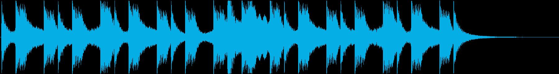 蒸し暑いイメージの再生済みの波形