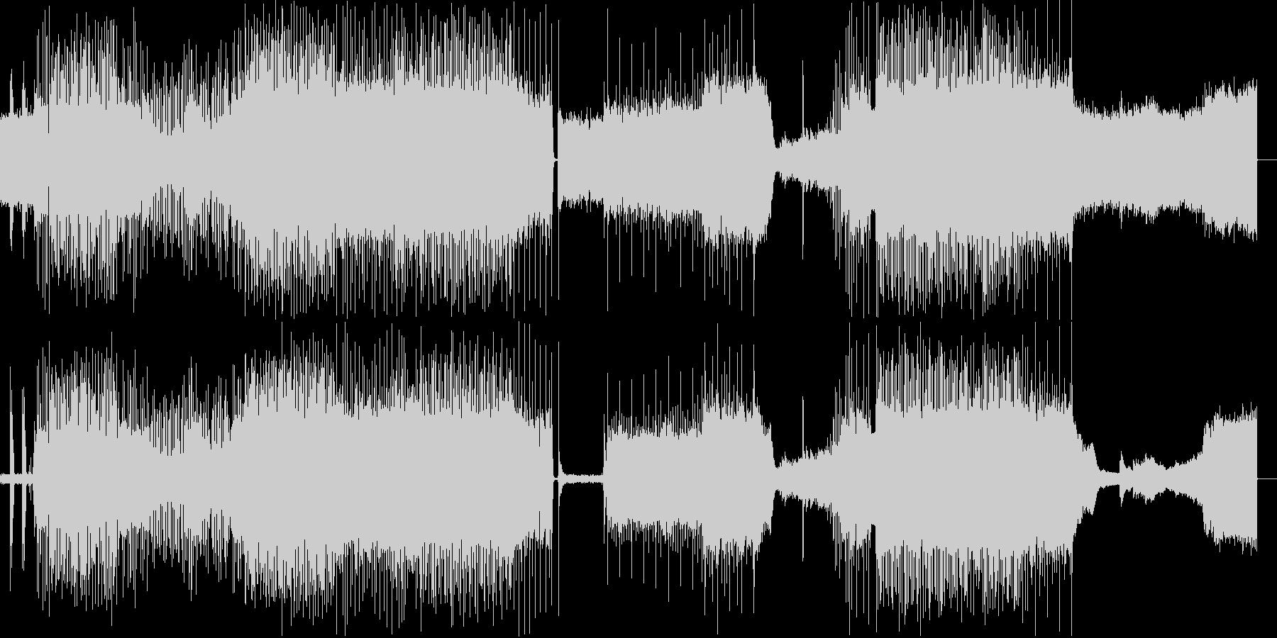 コード感を意識したメロディアスなインストの未再生の波形