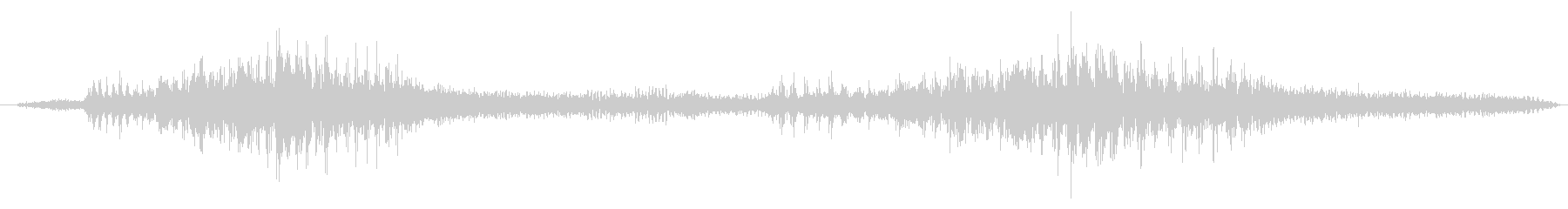 環境音 特撮フラッター01の未再生の波形