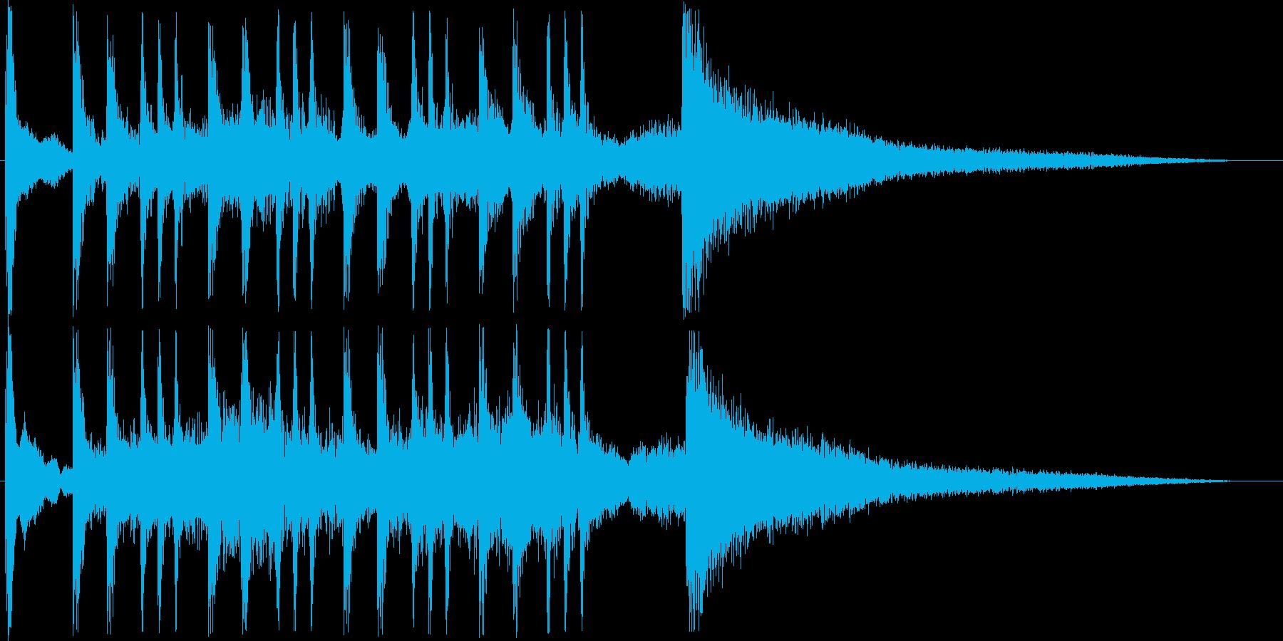 恐怖感があるオーケストラシンセの再生済みの波形