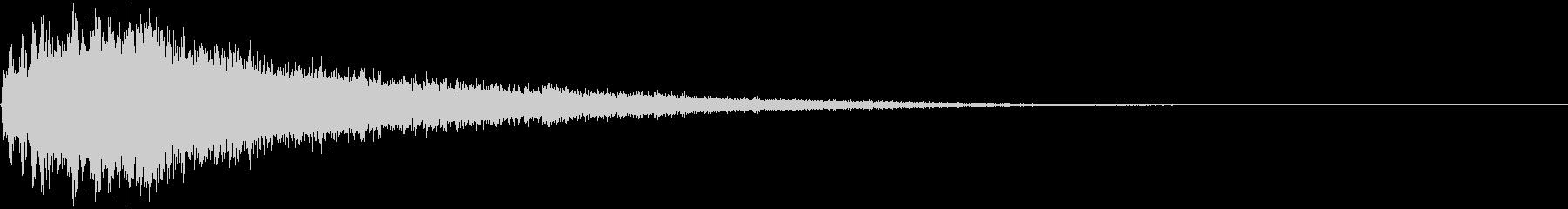 【ホラーゲーム】シンバルの音_ジャーンの未再生の波形