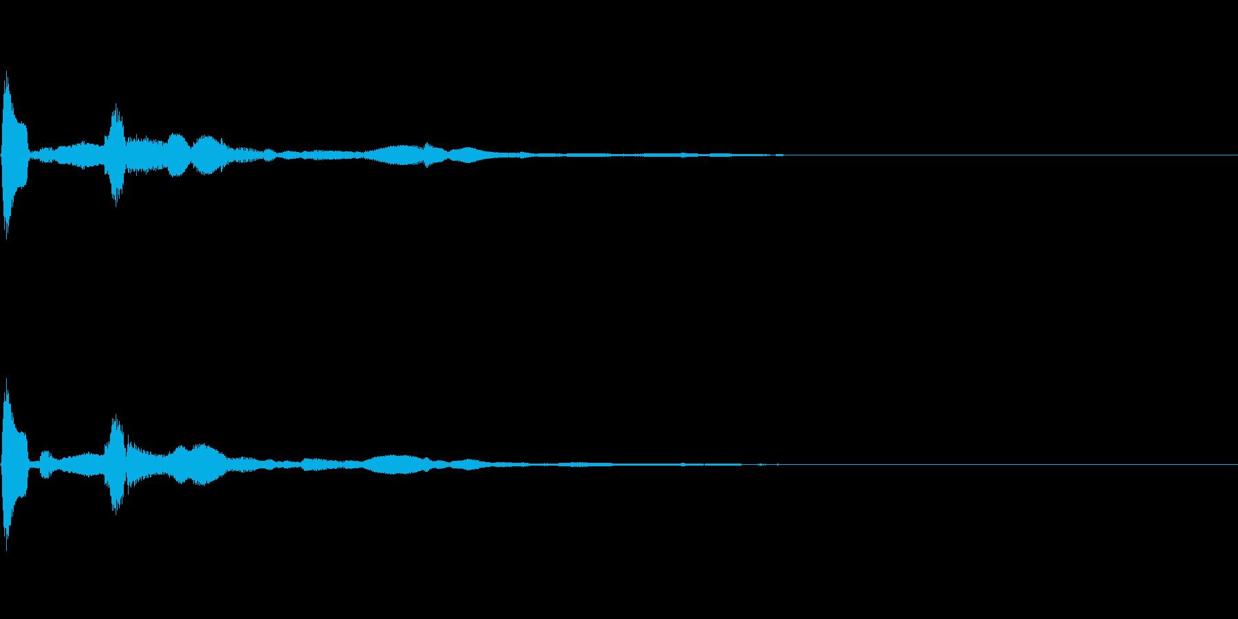 決定/クリック/選択音(ピコンッ)の再生済みの波形