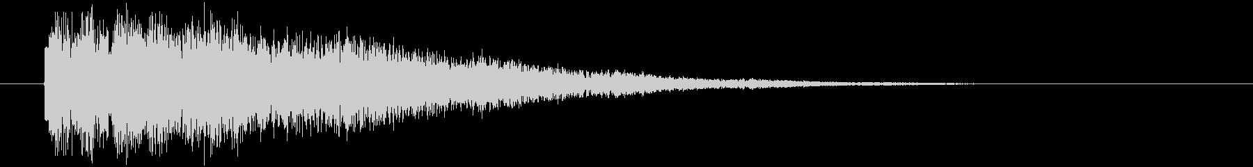 動きのあるタイトル表示の未再生の波形