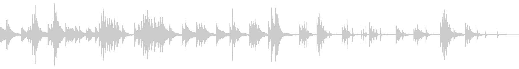 雄大な自然(ピアノ・しっとり・幻想的)の未再生の波形