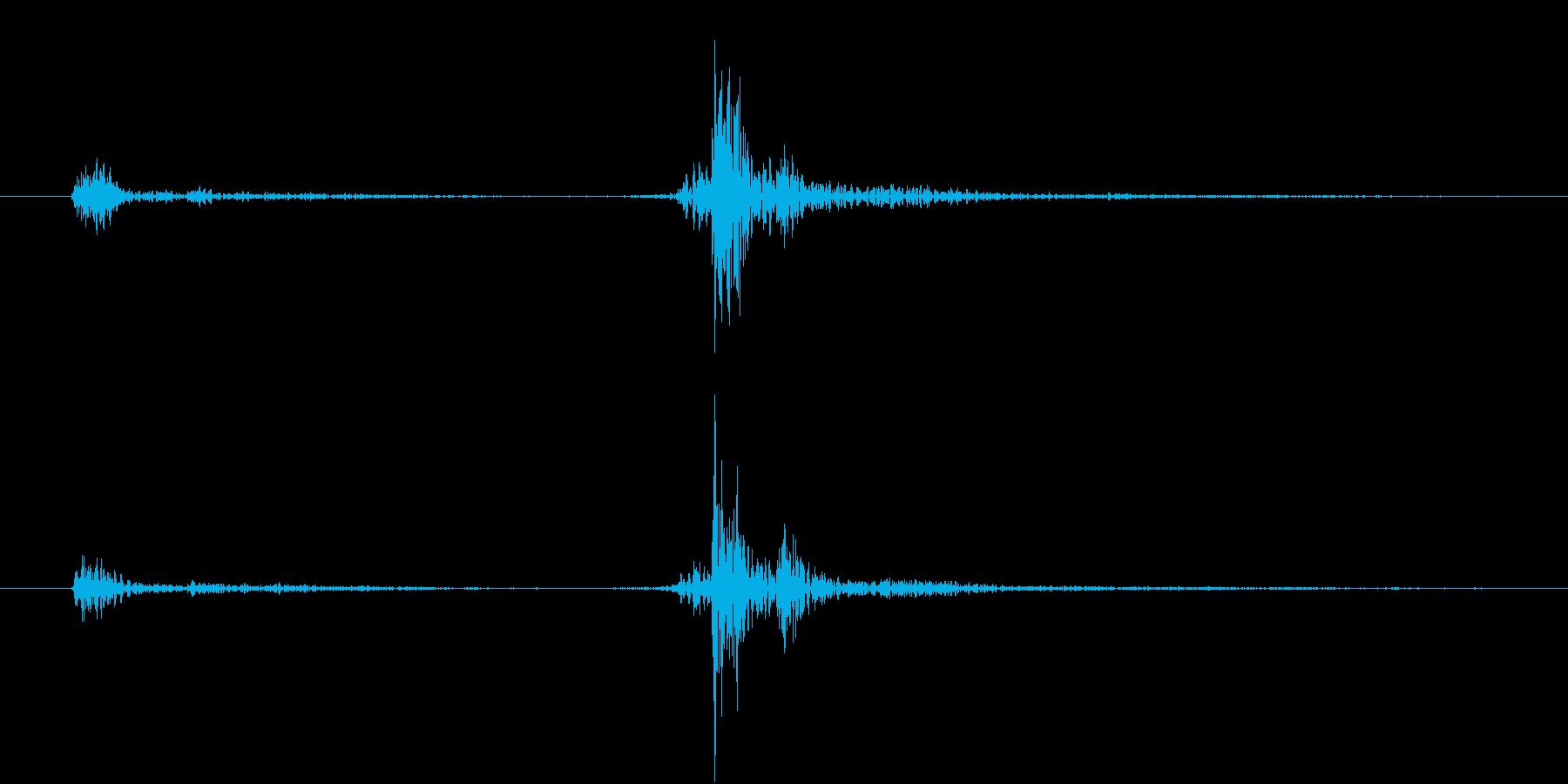 【生録音】お箸の音 37 開くor閉じるの再生済みの波形
