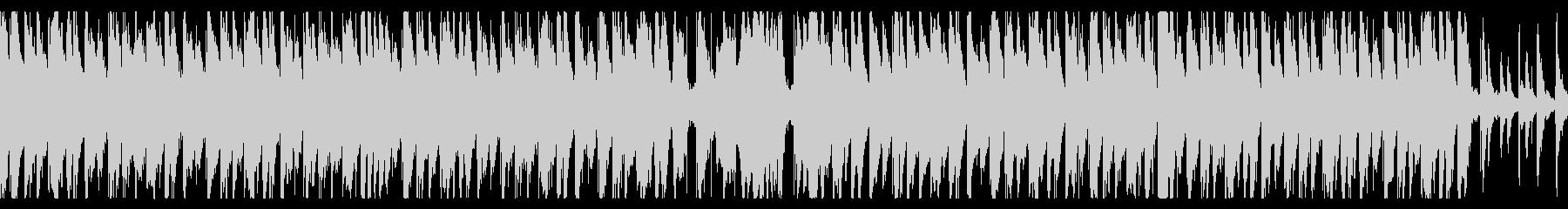 ハウス/夕日が沈む海にオシャレギターの未再生の波形