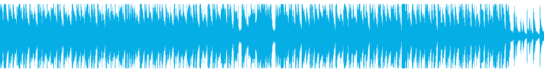 ハウス/夕日が沈む海にオシャレギターの再生済みの波形