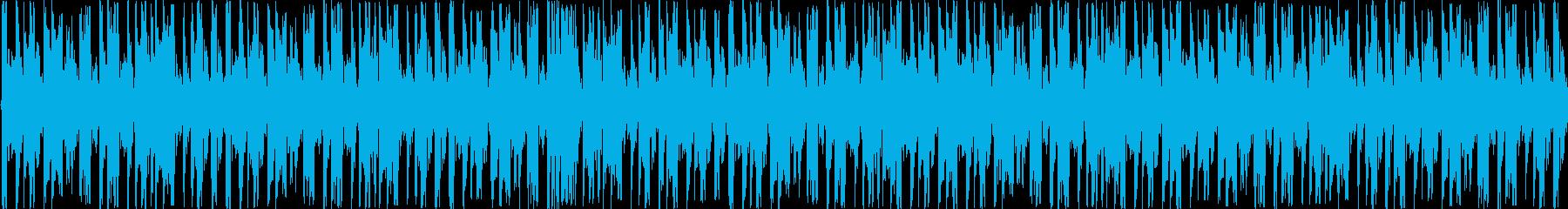 四つ打ちEDMLOOPの再生済みの波形