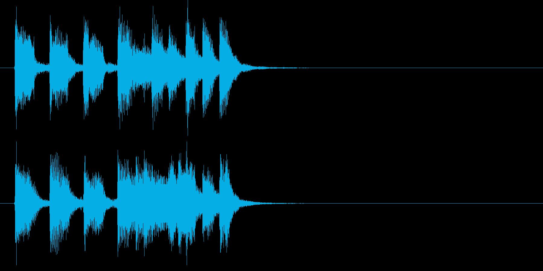 爽やかで明るいおしゃれな音楽の再生済みの波形