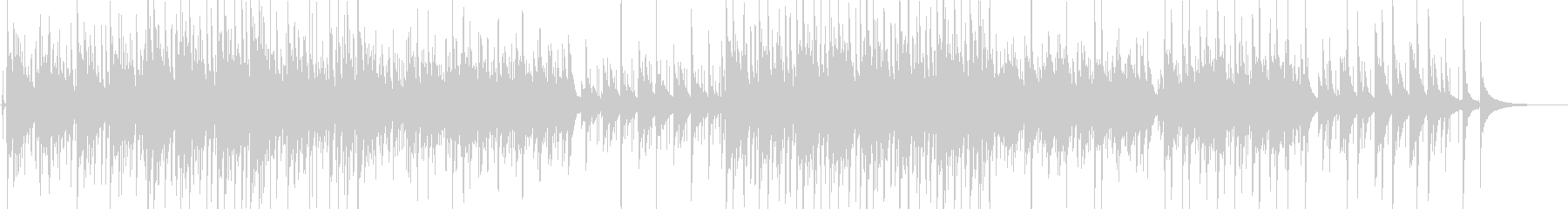 ゆったりしたアコースティックギターソングの未再生の波形