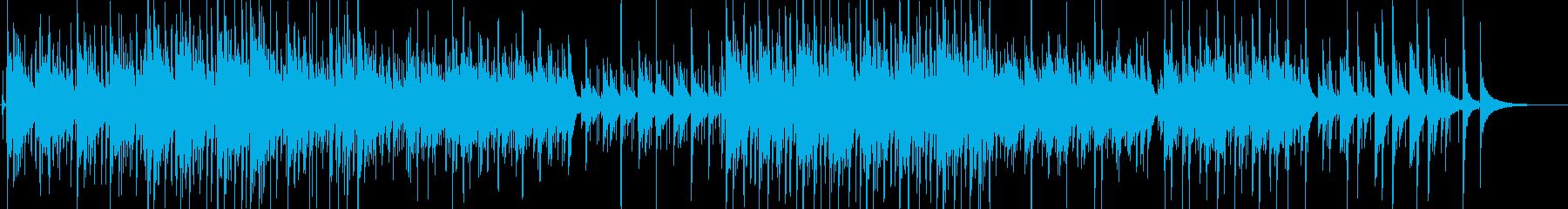 ゆったりしたアコースティックギターソングの再生済みの波形