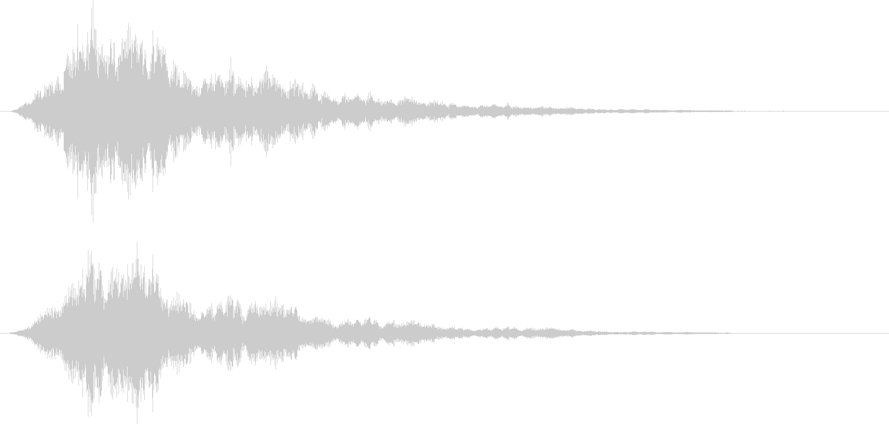 ファーン キラキラ セーブポイントの未再生の波形