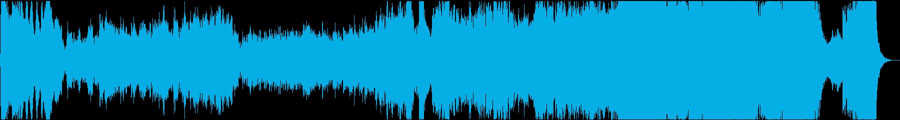 大河ドラマ主題曲のような和風オーケストラの再生済みの波形