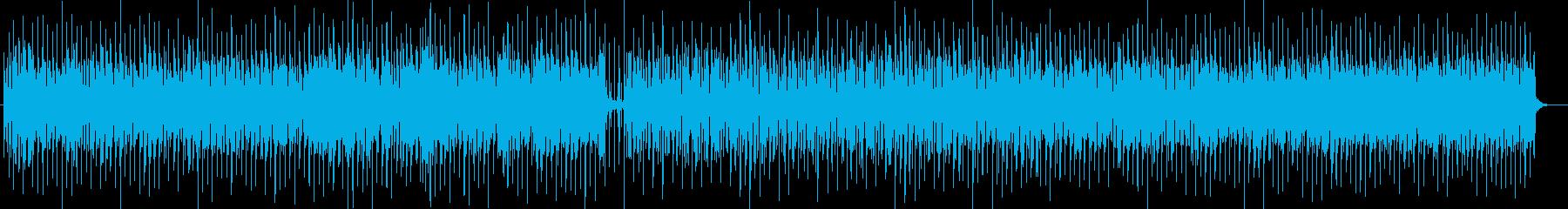 陽気なボサノヴァ調シンセサイザーサウンドの再生済みの波形
