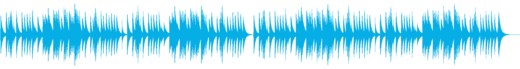 お正月 18弁オルゴールの再生済みの波形