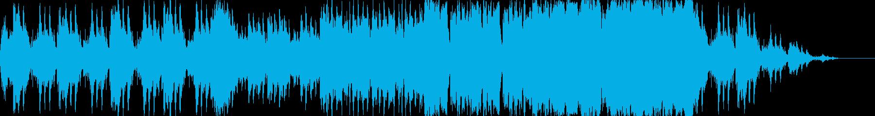 勇壮で力強い曲の再生済みの波形
