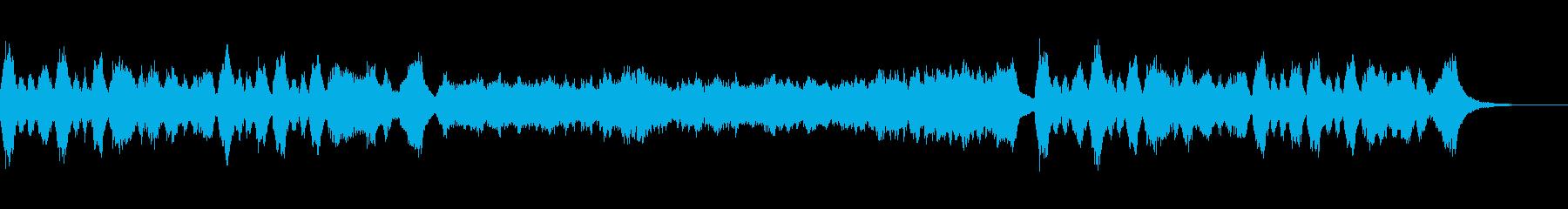 ファンタジーのお城や城下町の荘厳な曲の再生済みの波形