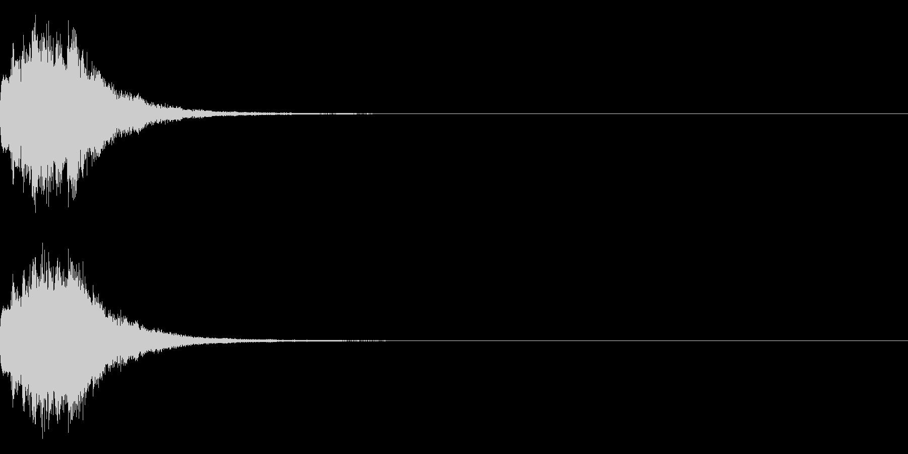 アナウンス 案内 実験 チャイム 05の未再生の波形