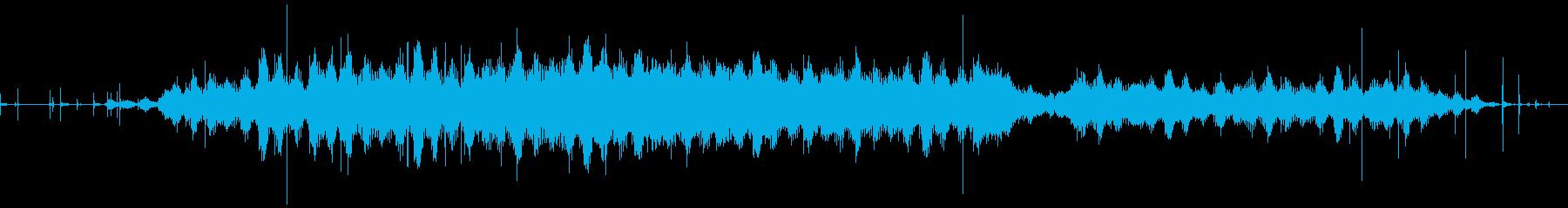 真暗な洞窟の中に潜む怪物たちのうめき声の再生済みの波形
