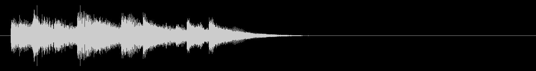 ナイロンギターの穏やかなサウンドロゴ の未再生の波形