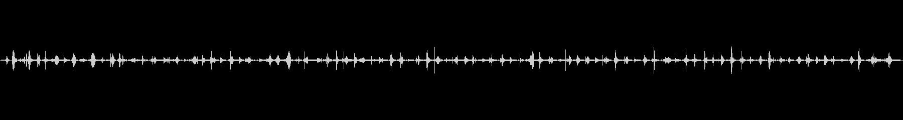 足音(歩く3)サンダル+コンクリートの未再生の波形