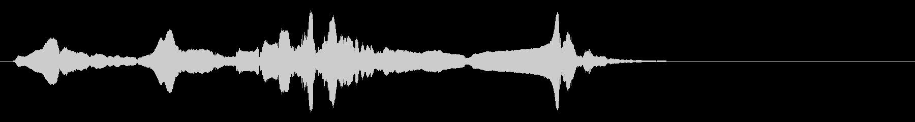 尺八 生演奏 古典風 残響音有 5の未再生の波形